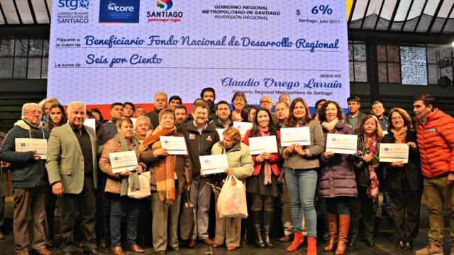 Entrega 6% Provincia de Santiago.